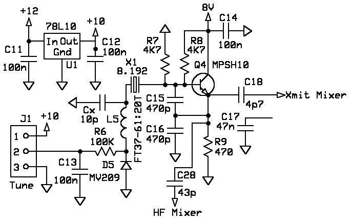 universal 1watter qrpp transceiver service manual