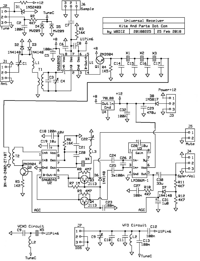 universal receiver Google Analytics Design click for full size pcb layout in new window